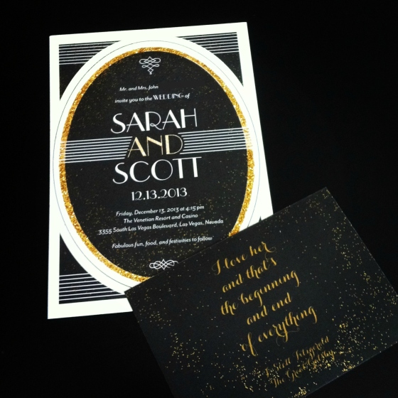 wedding invite + art deco